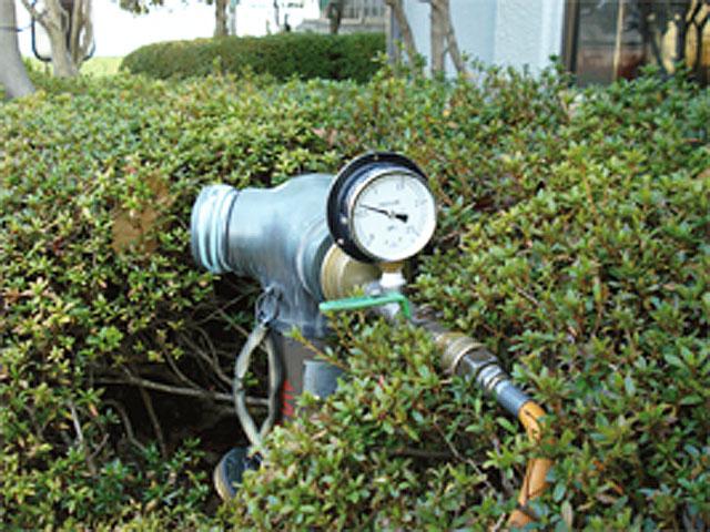 送水口からの圧力計測