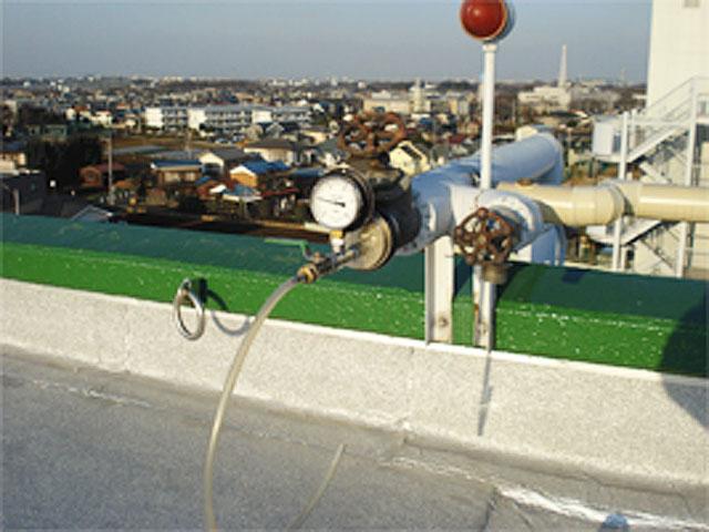 屋上テスト弁での圧力計測
